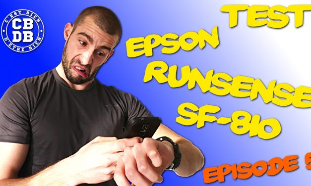 Episode 5 du test de la montre Epson Runsense SF-810
