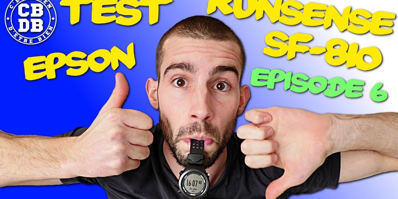 Episode 6 du test de la montre Epson Runsense SF-810