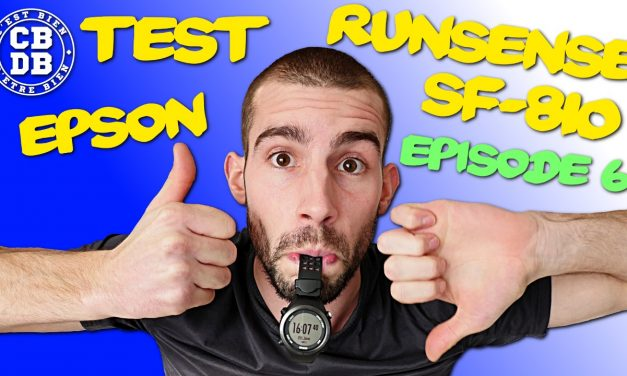 Episode 6 du test de la montre Epson Runsense SF-810