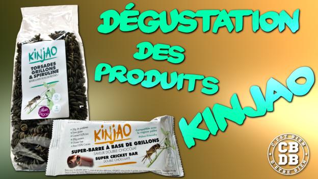 kinjao insectes grillons spiruline chocolat c'est bien d'être bien cbdb