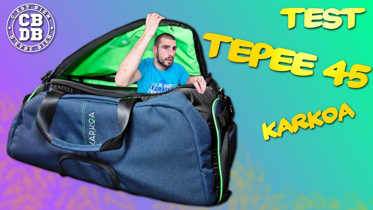 Test du sac Tepee 45 de Karkoa