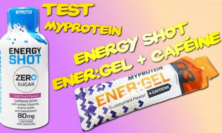 Test ENER:GEL + caféine et Energy Shots MyProtein