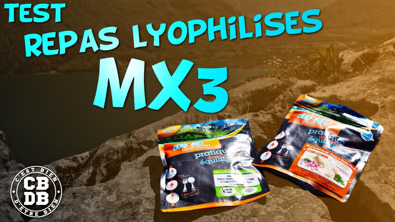 Test repas lyophilisés MX3