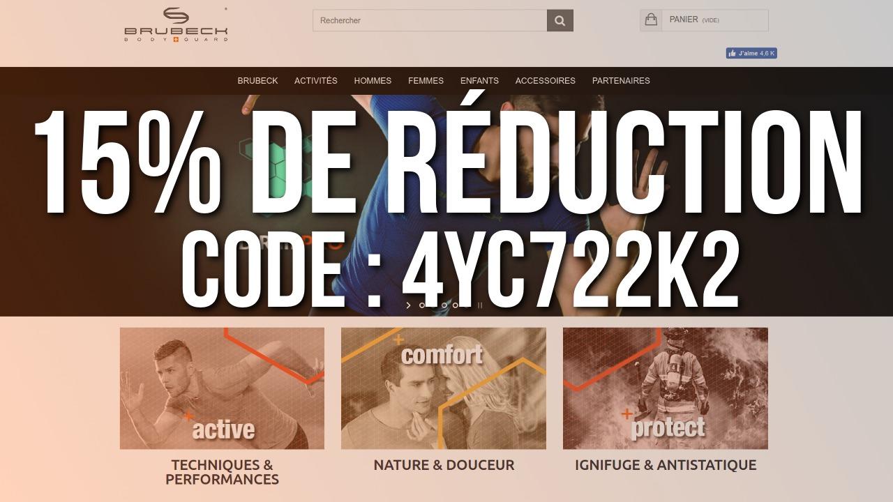 15% de réduction sur les vêtements Brubeck