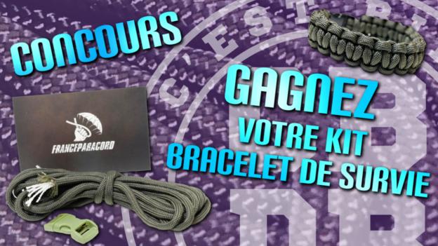 concours bracelet survie paracord c'est bien d'être bien cbdb
