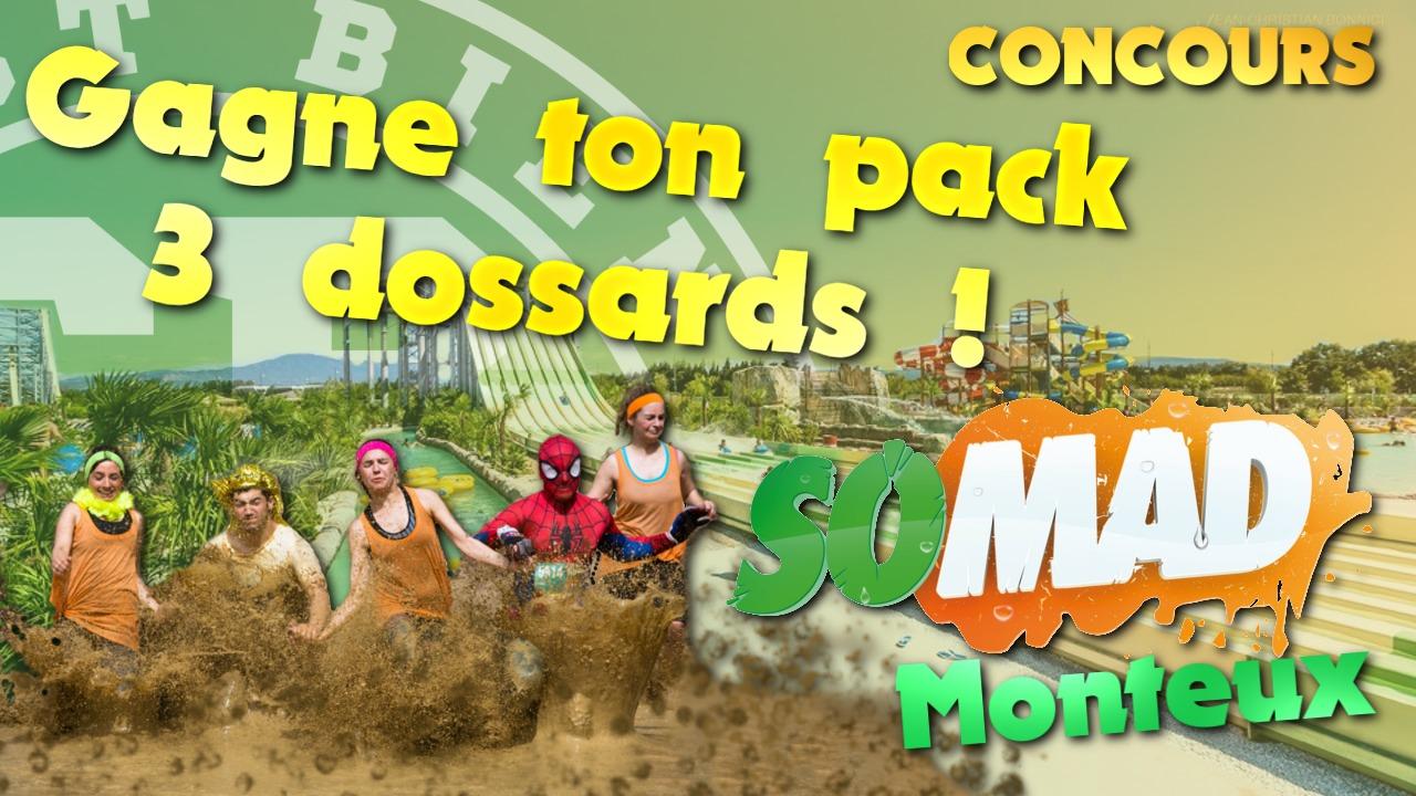 Gagne ton pack 3 dossards pour la SoMAD de Monteux