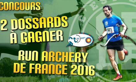 2 dossards à gagner pour le Run Archery de France