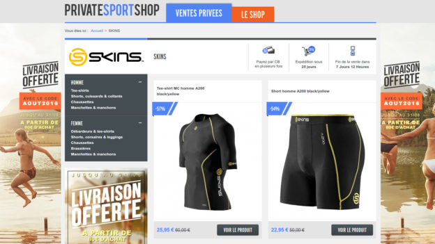 vente privée skins privatesportshop c'est bien d'être bien cbdb