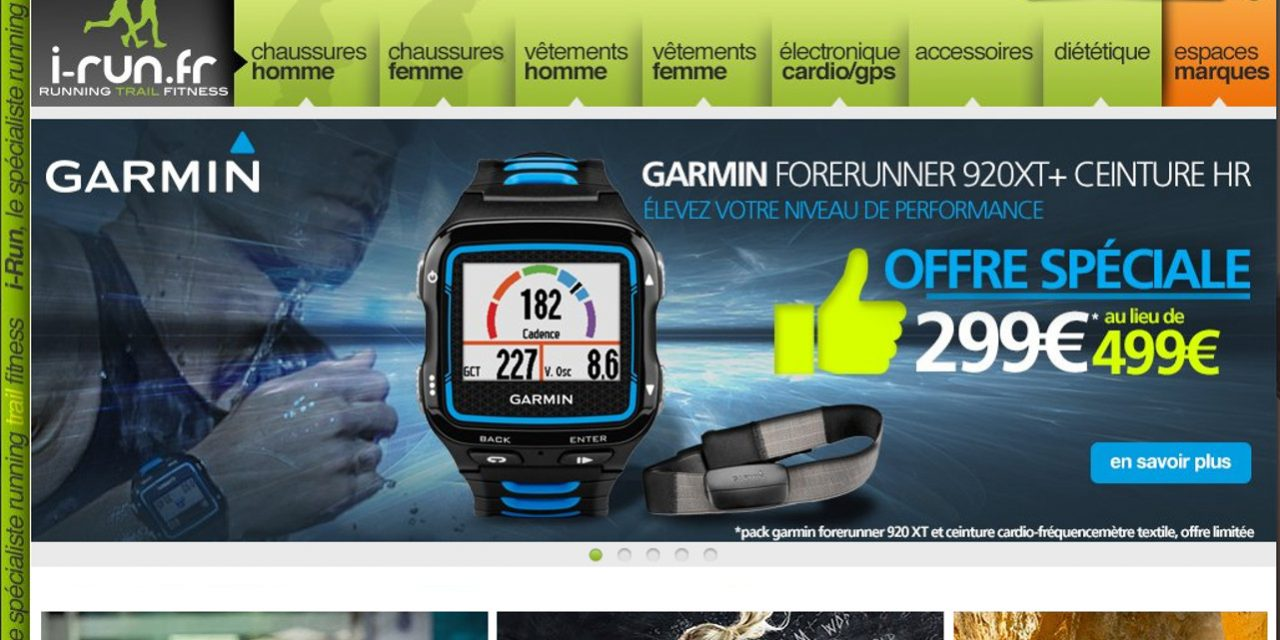 Montres Garmin à -40% chez I-Run