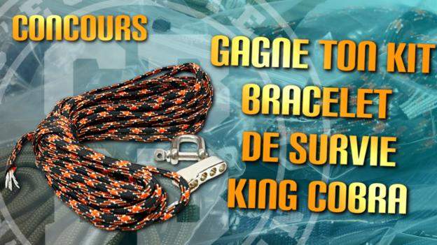 concours bracelet survie king cobra franceparacord c'est bien d'être bien cbdb
