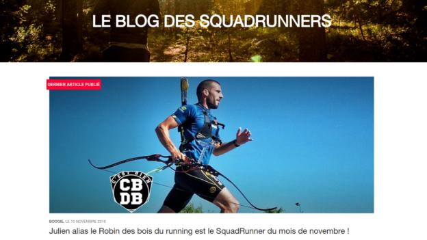 squadrunner running run archery c'est bien d'être bien cbdb