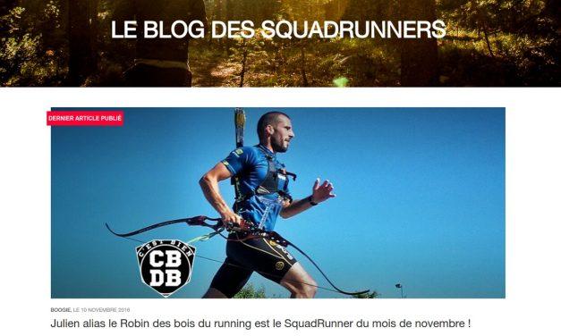 Julien, SquadRunner du mois de Novembre