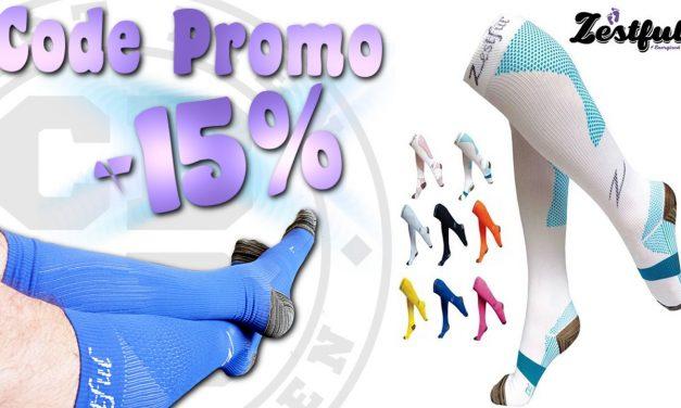 -15% sur les chaussettes de compression Zestful
