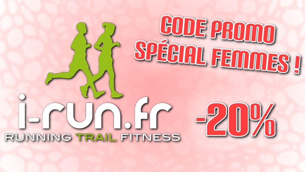 Un code promo spécial pour ces dames sur I-Run