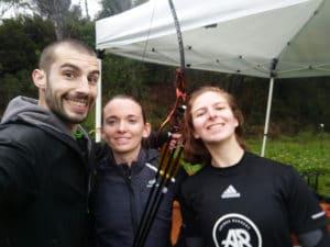 run archery nice creps boulouris ffta biathlon c'est bien d'être bien cbdb