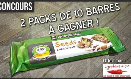 Gagne ton pack de barres Adventure Food