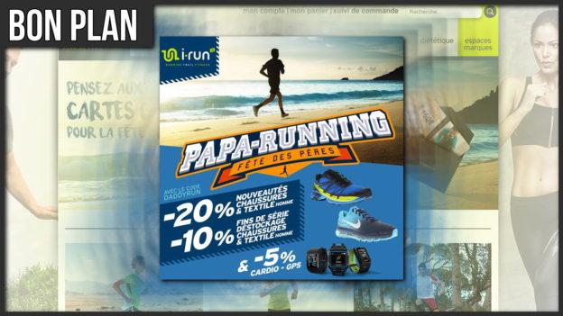 code promo irun daddyrun papa running trail fête peres reduc c'est bien d'être bien