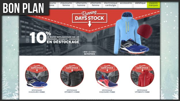 code promo I-Run days stock destockage running c'est bien d'être bien