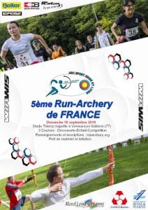 affiche run archery de france veneux les sablons 2018