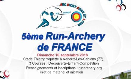 Ouverture des inscriptions pour le Run Archery de France 2018