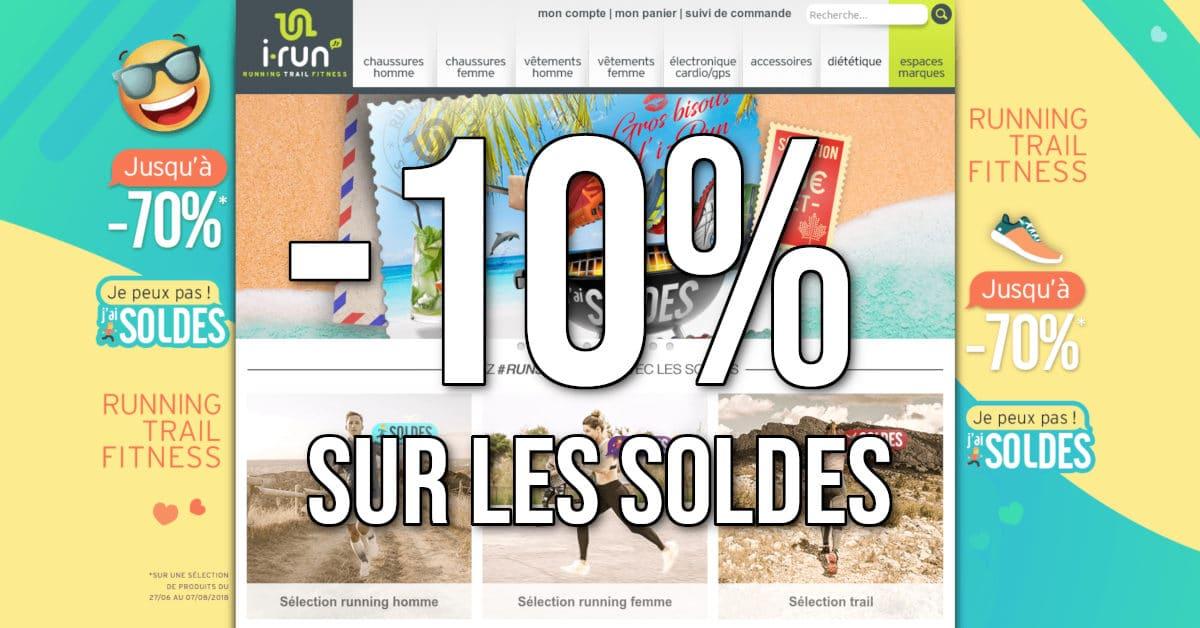Code promo -10% sur les soldes I-Run