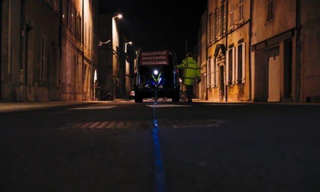 Traçage de la Ligne Bleue du Marathon de La Rochelle