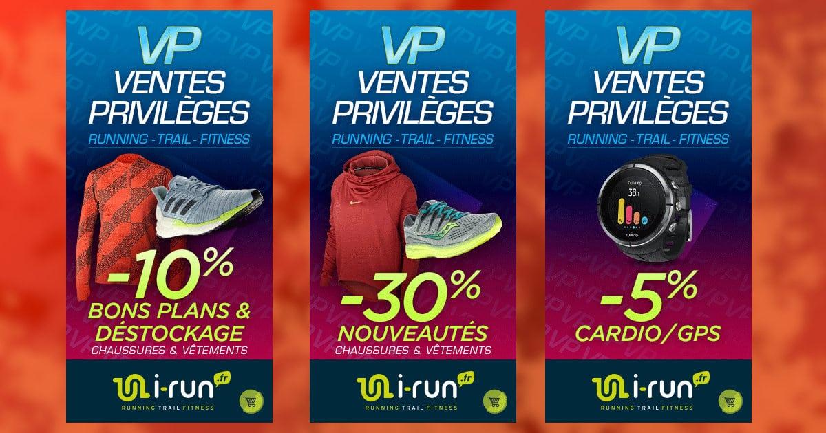 Les Ventes Privilèges I-Run pour débuter l'année