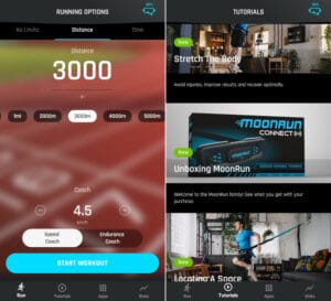 test moonrun connect application moonrun fitness